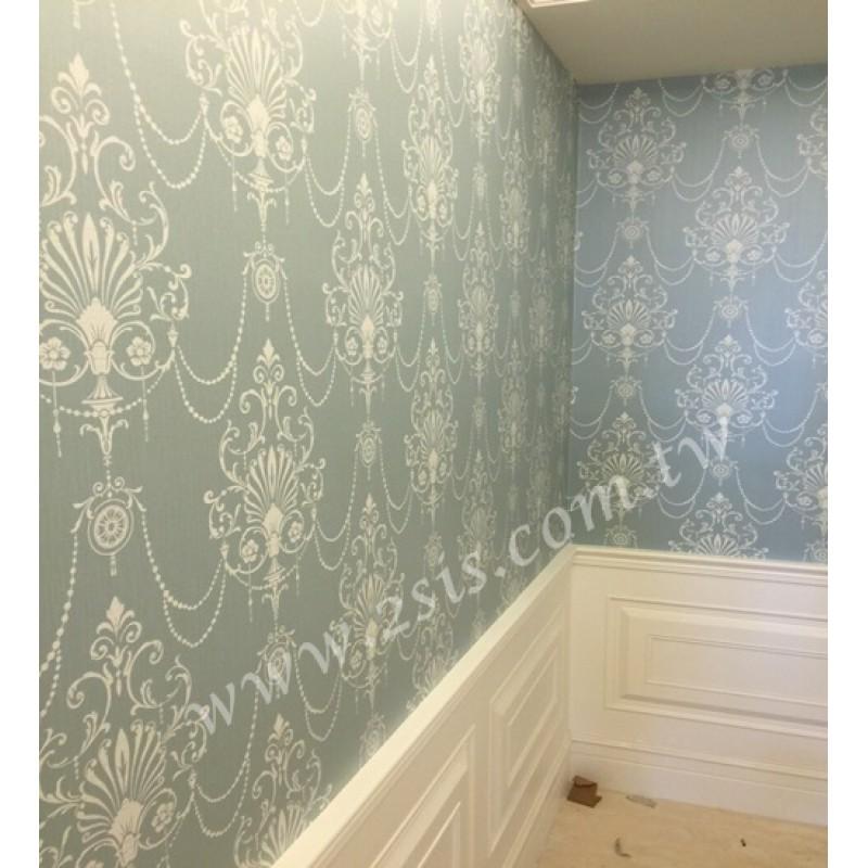 案例分享-壁紙工程古典玄關處