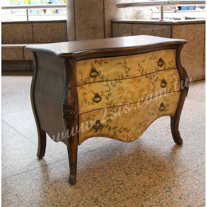手繪美式玄關櫃/斗櫃/化妝桌