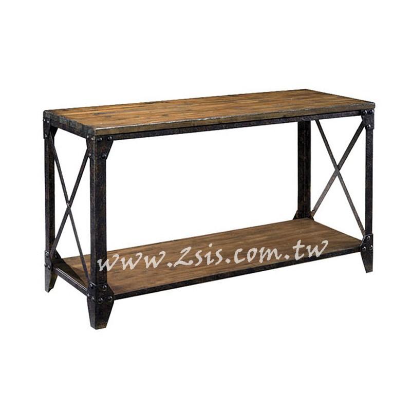 鄉村工業風實木玄關桌/展示桌