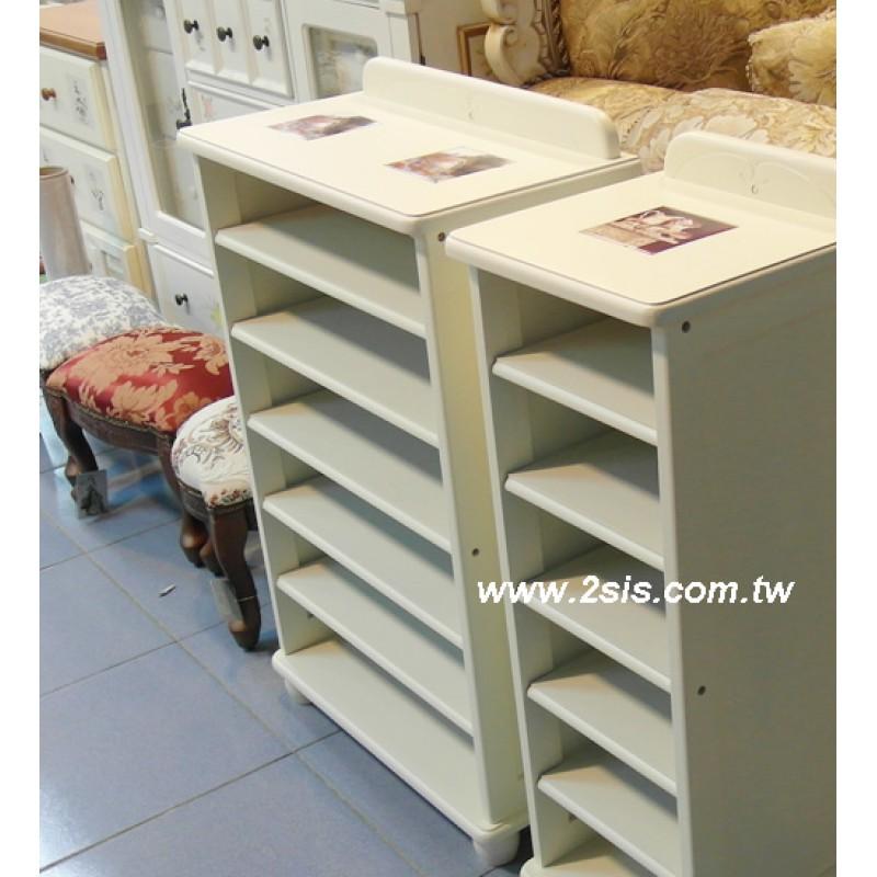 磁磚開放鞋櫃2尺-白
