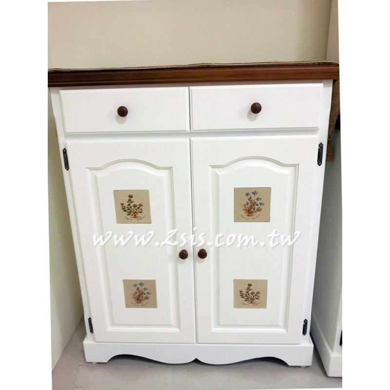 凱薩磁磚雙門鞋櫃(白色款)