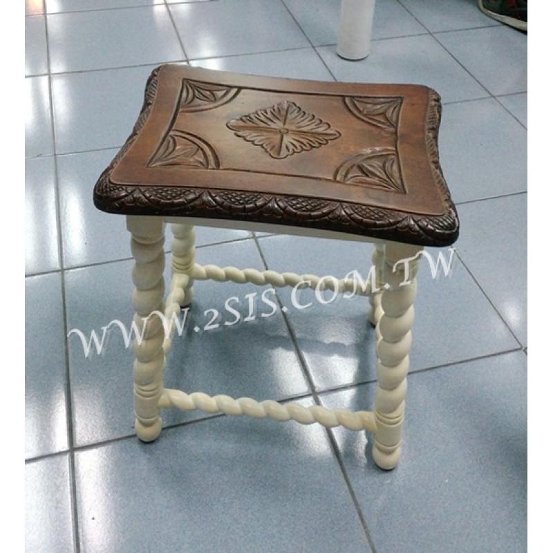 實木刻花條椅凳