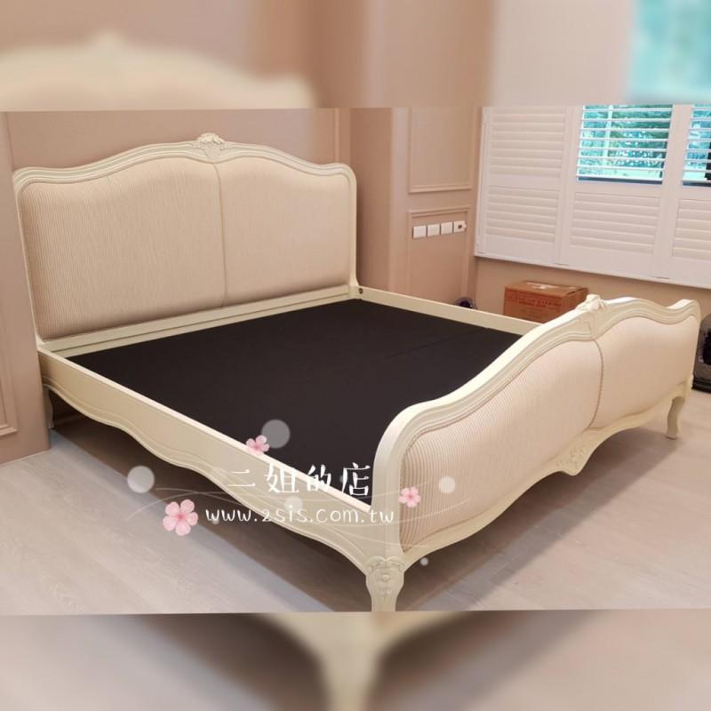 伊莉莎白歐式仿古雙人床(標準尺寸)