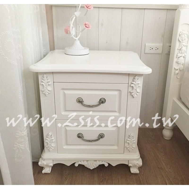 皇家貴族雕花床頭櫃