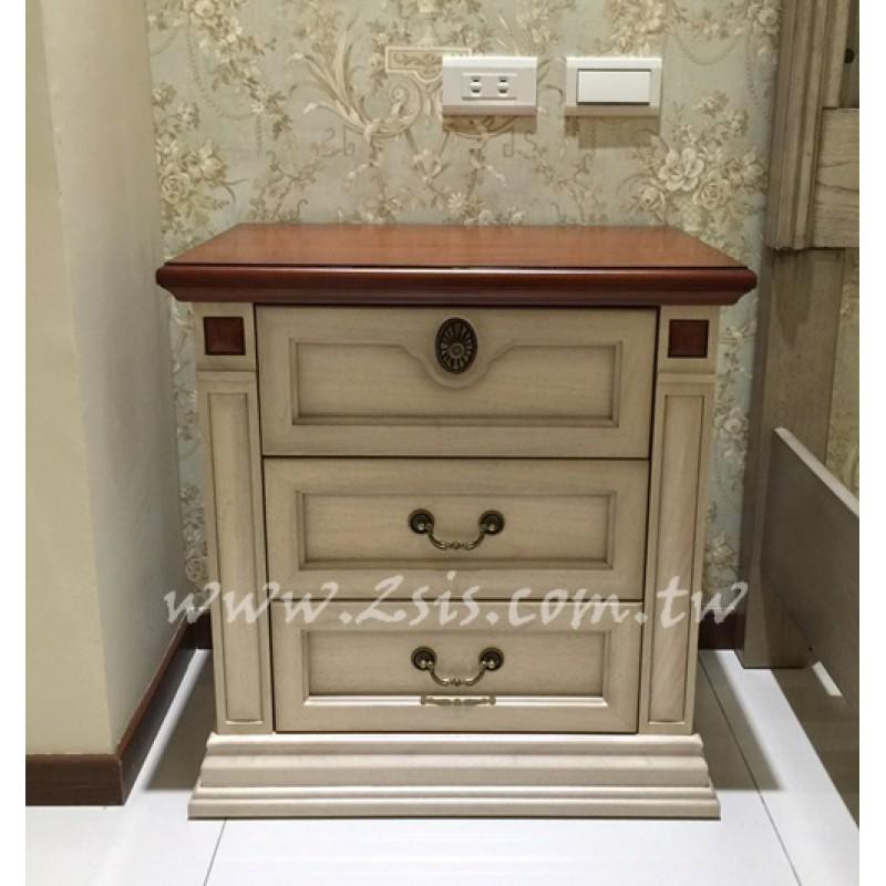 卡尼實木雙色床頭櫃