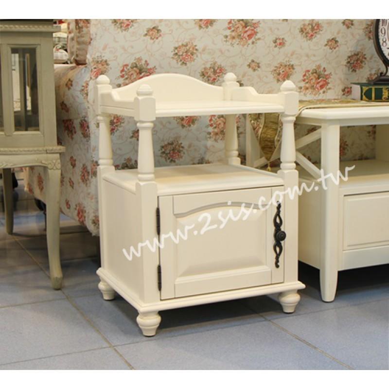 洗白床頭櫃(紅椿木)