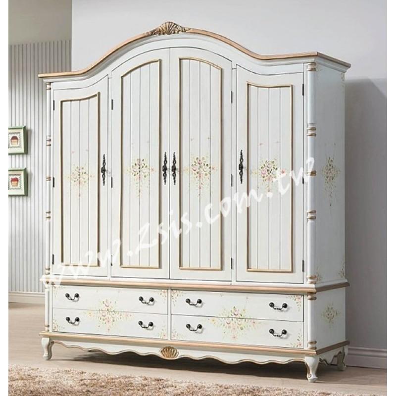 伊麗莎白6.3尺四門衣櫃