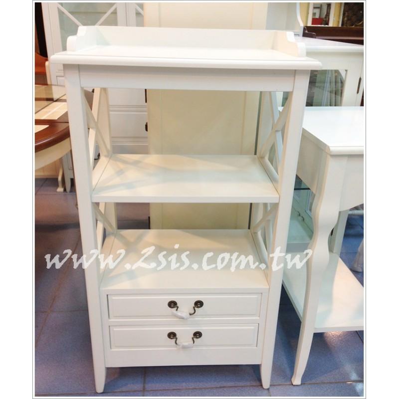 英式橡木兩抽收納櫃/書櫃/小電器櫃