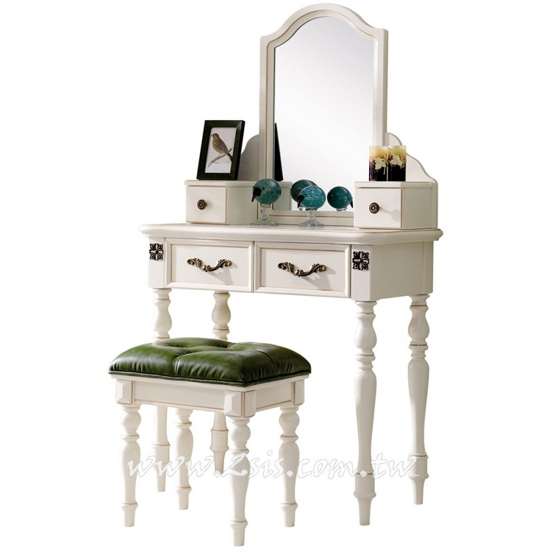 蘇菲亞法式2.7尺化妝台(含椅)