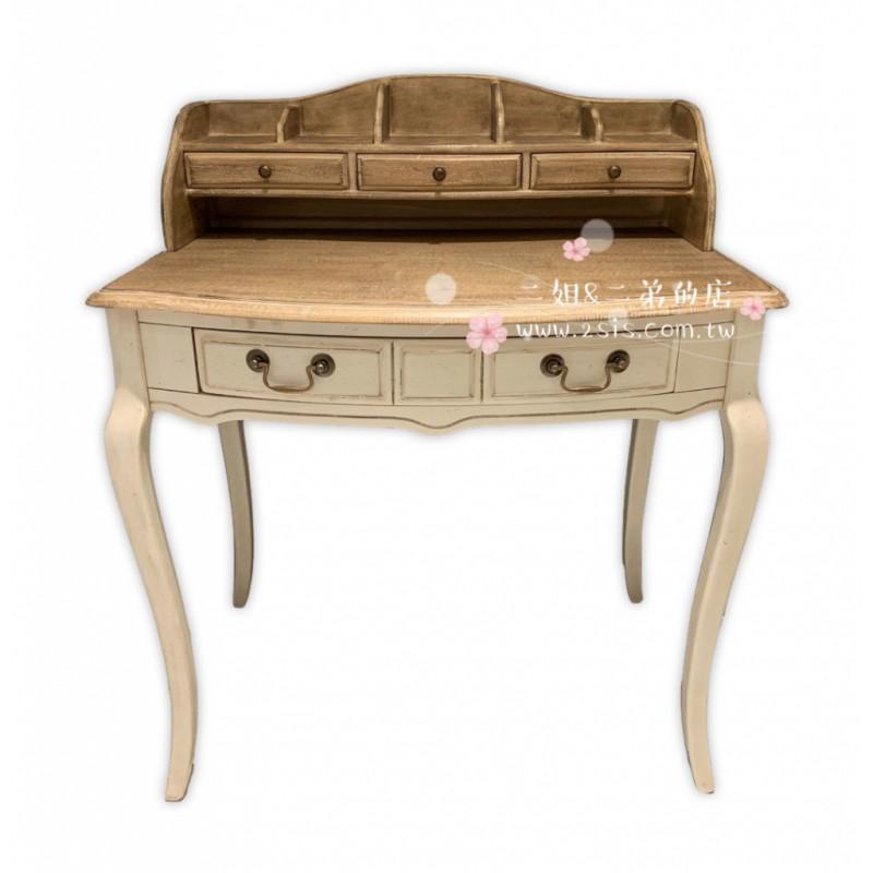 南法鄉村刷舊化妝台/寫字桌