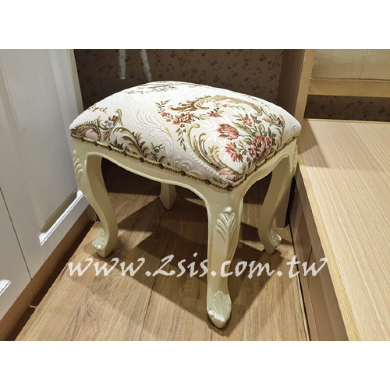 法式刻花化妝椅