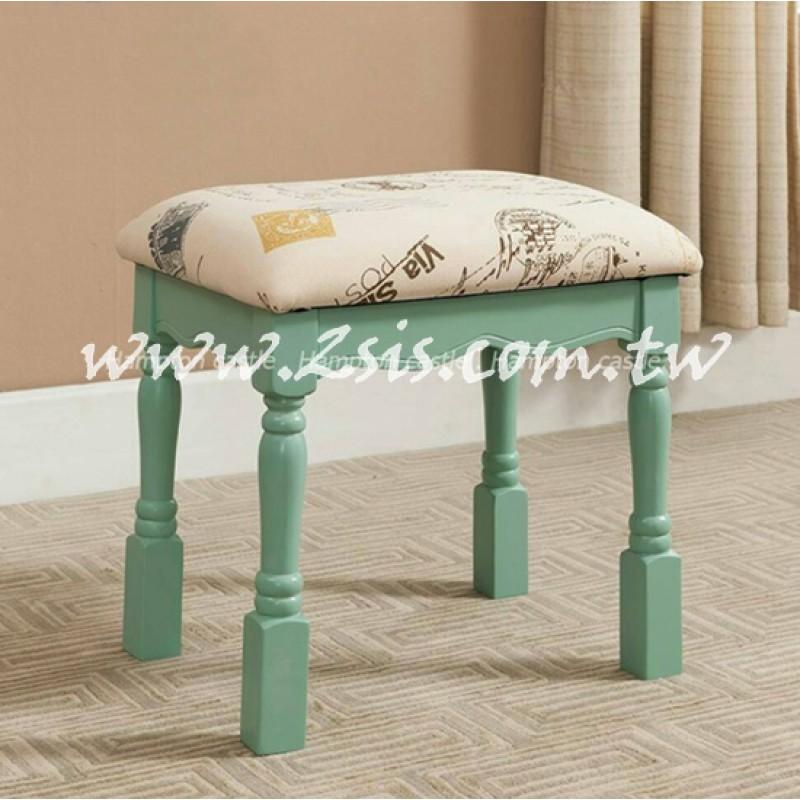 蘇菲鄉村化妝椅-綠