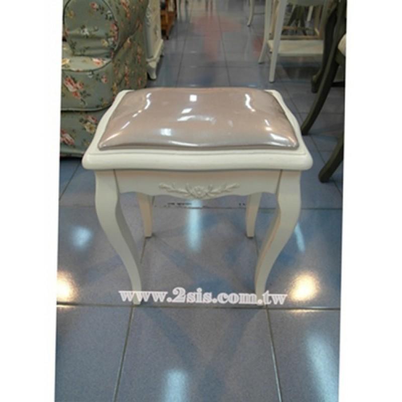 絨布洗白化妝椅