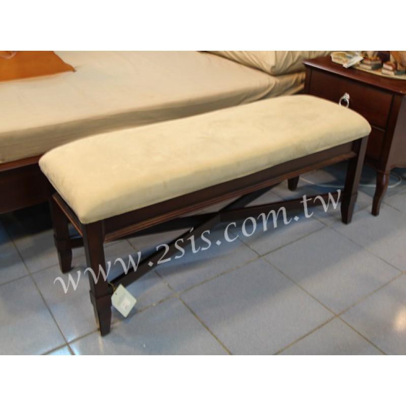 原木床尾凳