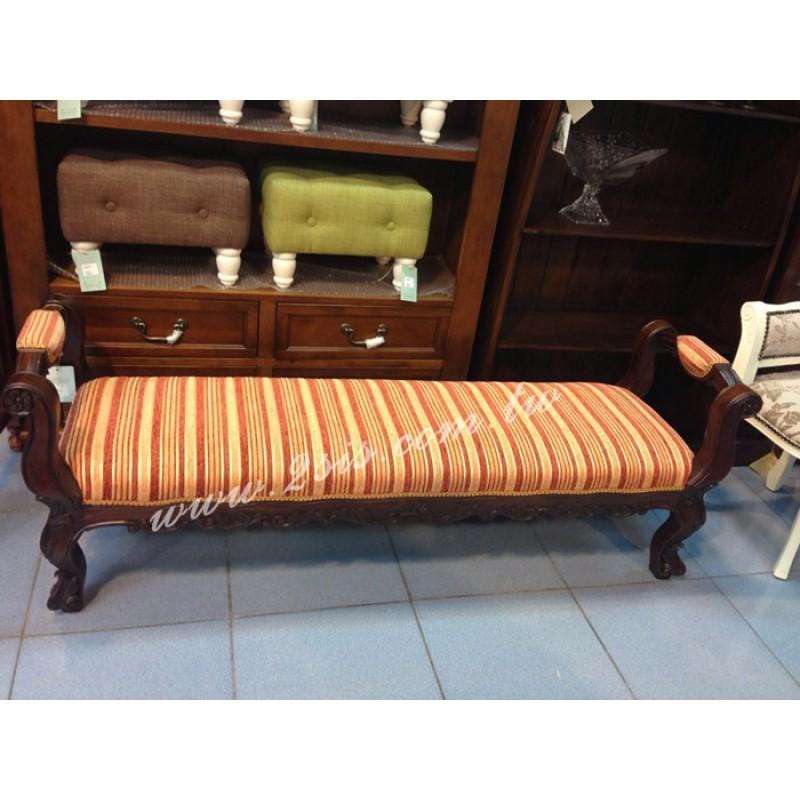古典扶手長凳