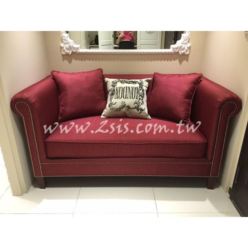 泰勒二人沙發-暗紅