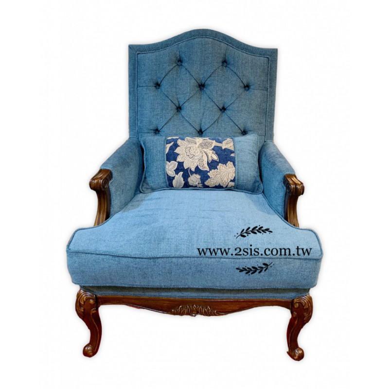 英式鄉村雕刻主人椅