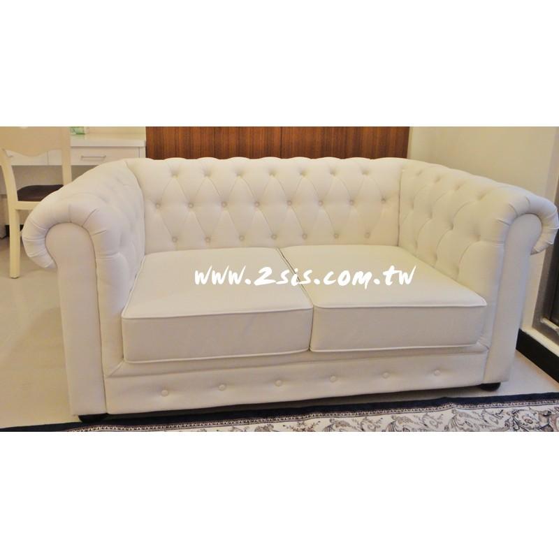 新古典愛紗純白雙人沙發