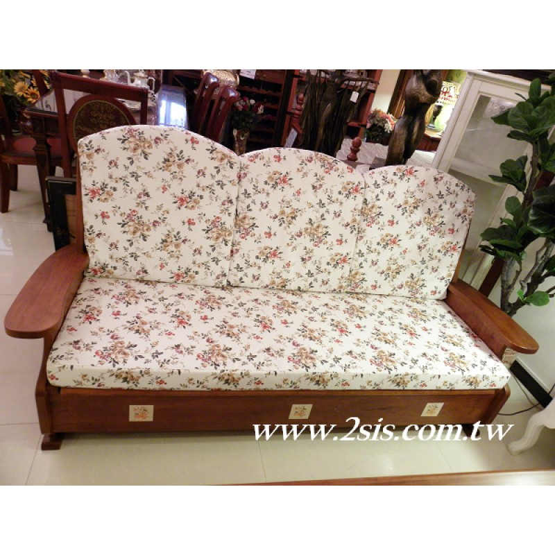 凱薩磁磚實木可掀式單人沙發