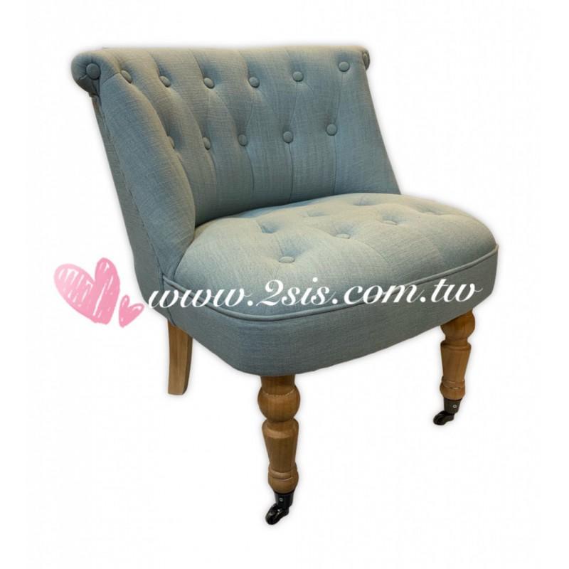 美式布扣單人椅/休閒椅