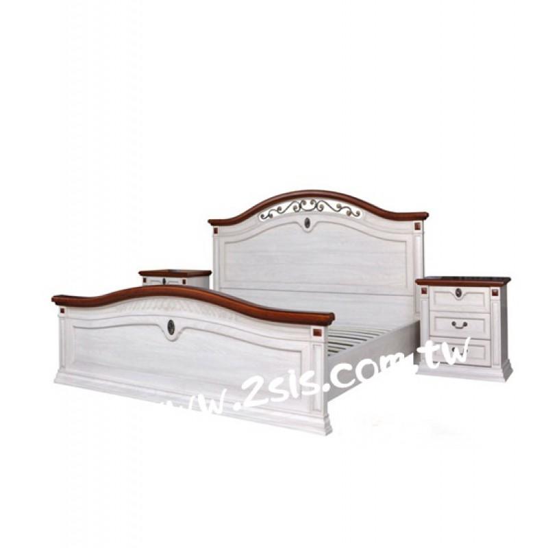 彩繪雙人床架