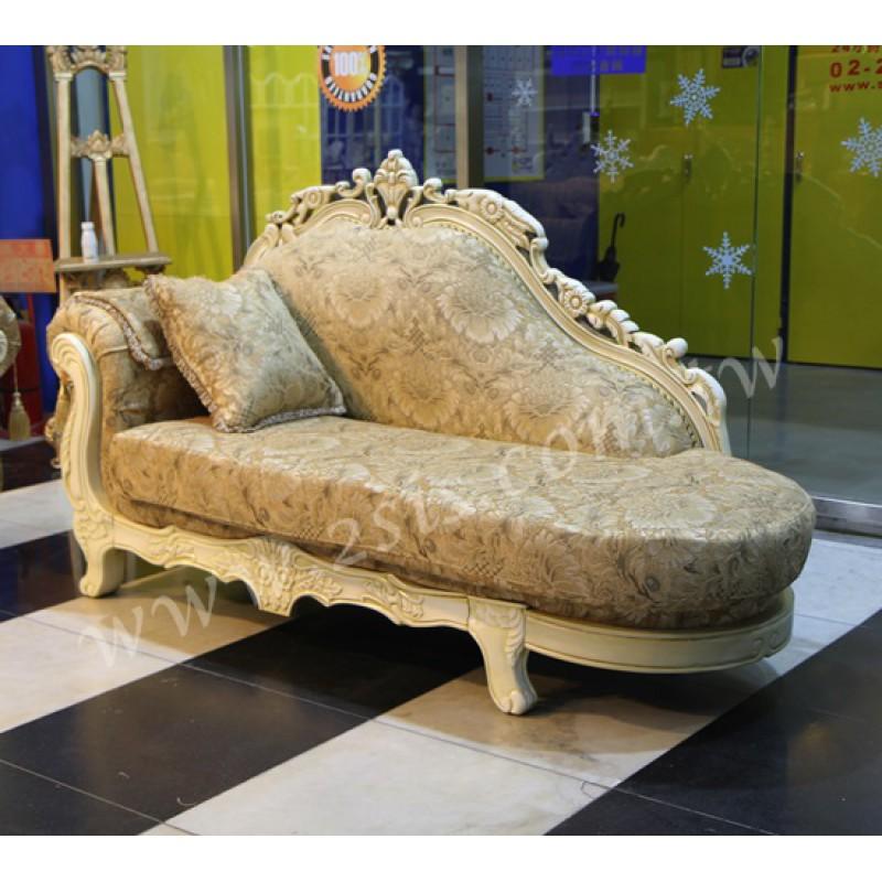 歐式古典刻花貴妃沙發