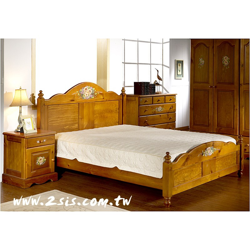 普羅旺斯手繪雙人床