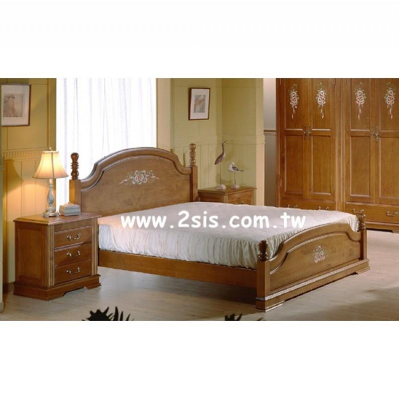 西利亞彩繪雙人床(標準)