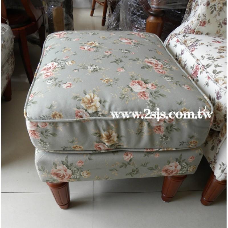 跨腳椅(綠底粉花)