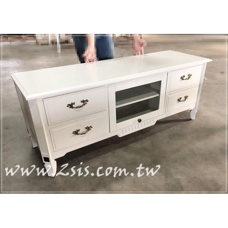 鄉村歐風古典小型電視櫃