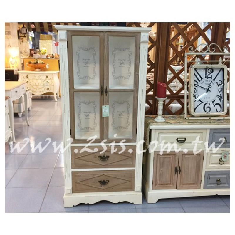 仿舊印花玻璃展示櫃