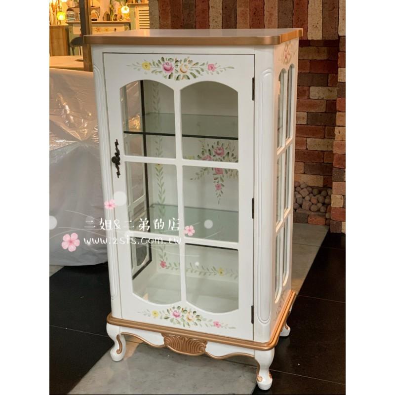 伊莉莎白彩繪古典展示櫃