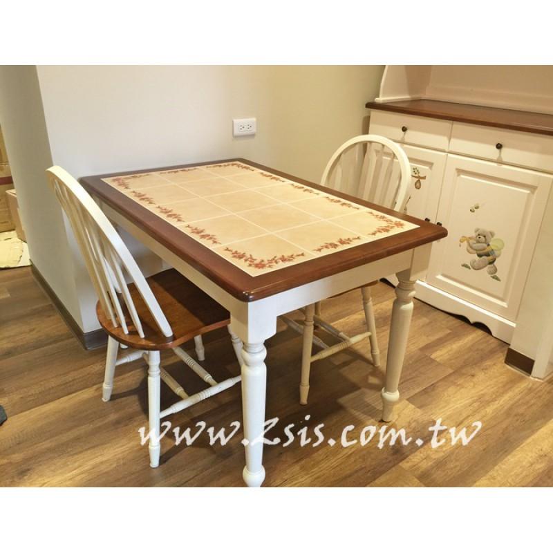 愛麗絲瓷磚原木餐桌
