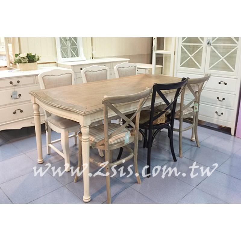 南法刷舊六尺長方餐桌