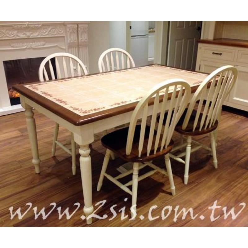 愛麗絲雙色瓷磚大餐桌