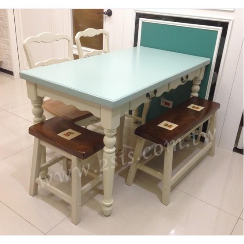 美式雙色餐桌-核色