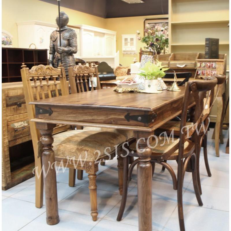 印度油木餐桌