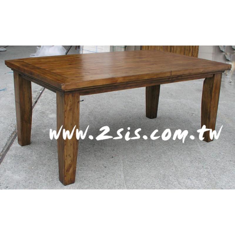 原木手工1.8M餐桌