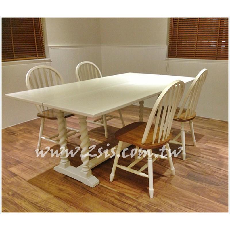 【展示品出清】麻花捲美式鄉村摺疊大餐桌