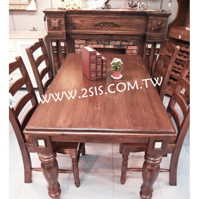 手工原木1.5米餐桌