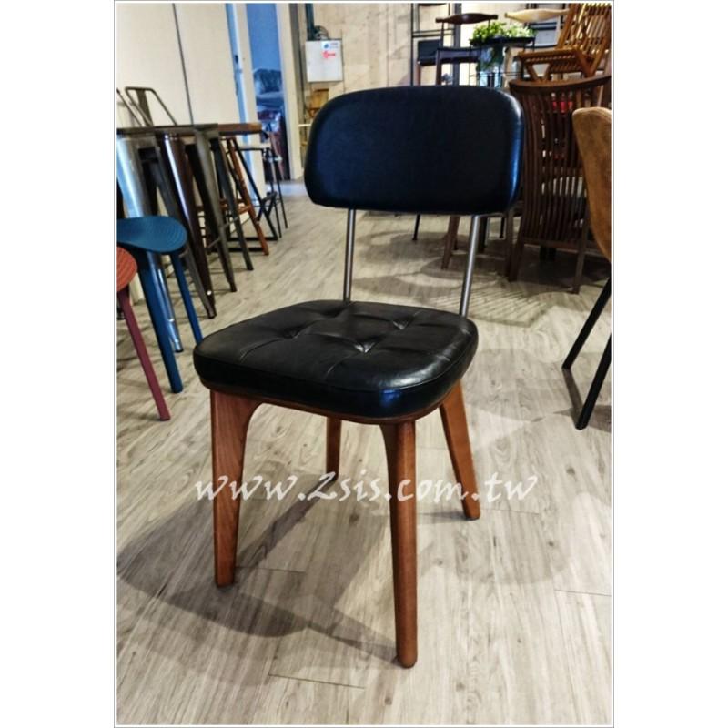 LOFT美式鄉村工業風皮革餐椅/化妝椅