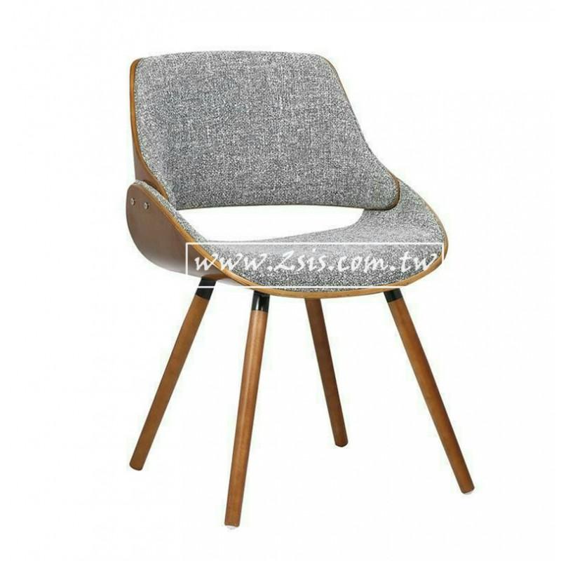 北歐現代布餐椅(胡桃實木腳)