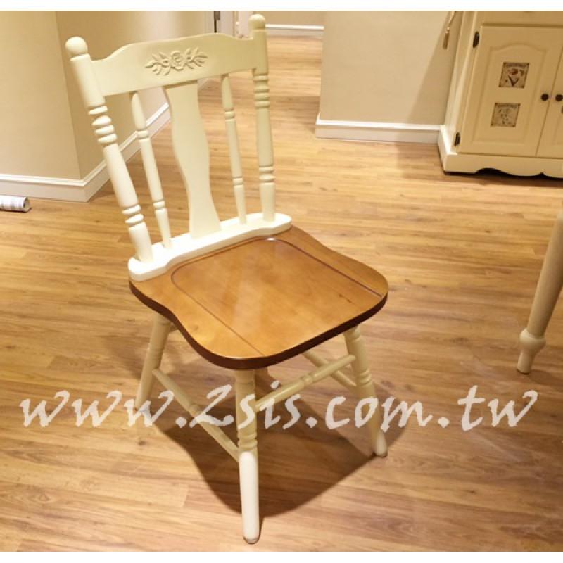 實木雙色鄉村餐椅