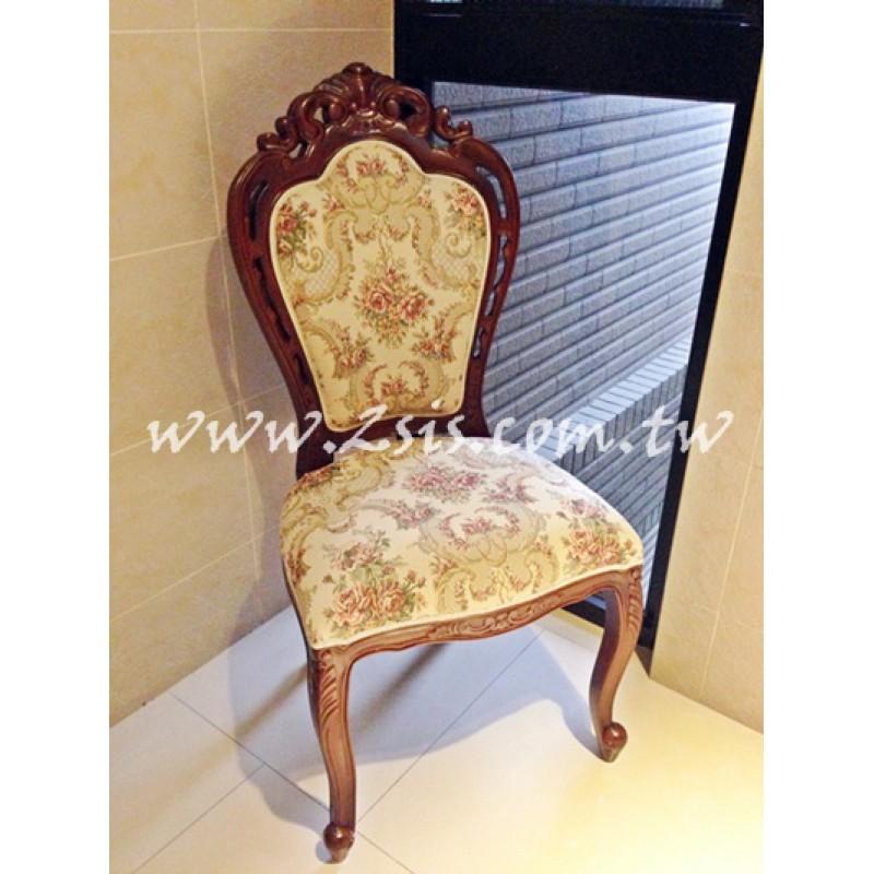 凱撒刻花餐椅-木色
