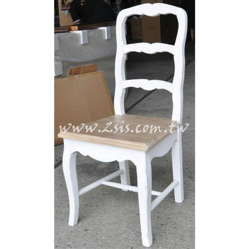 南法仿舊雙色餐椅