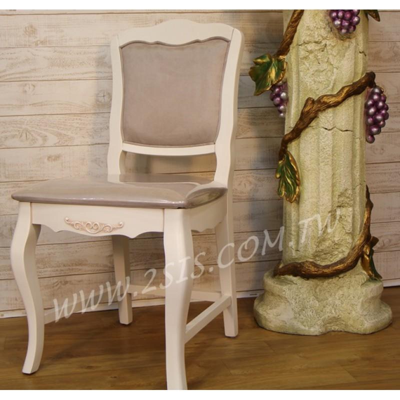 洗白絨布無扶手椅