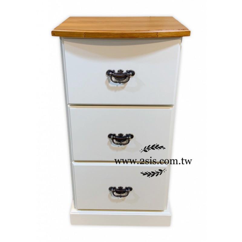 【可訂製】實木三抽收納櫃、邊櫃