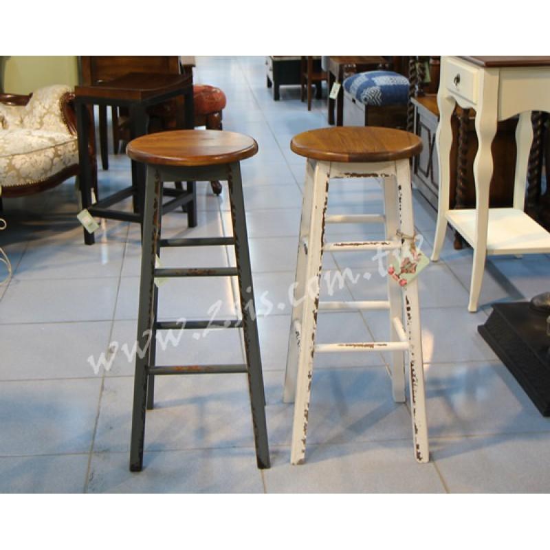 仿舊鄉村吧台椅