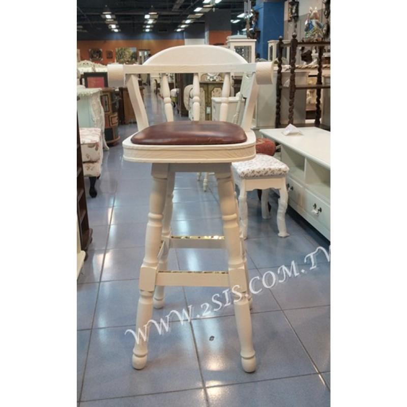 松木旋轉式吧台椅
