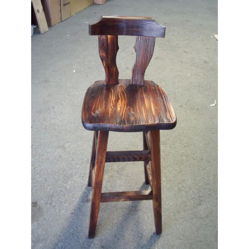 松木背靠吧台椅